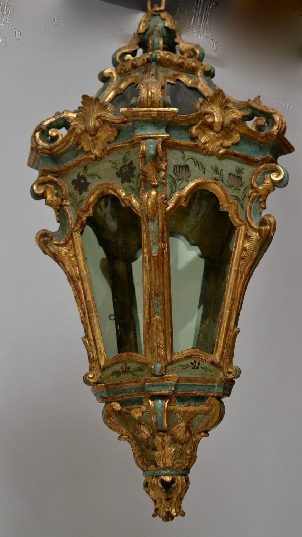 Rare Pair of Venetian Rococo Hanging Lanterns, 18th ...