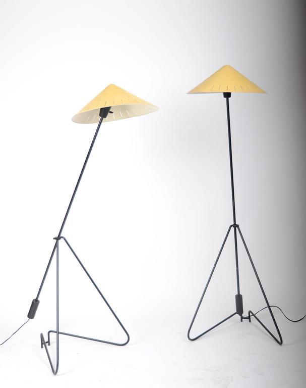 Scandinavian Modern Pair of Floor Lamps, Sweden, 1950-1960s For Sale