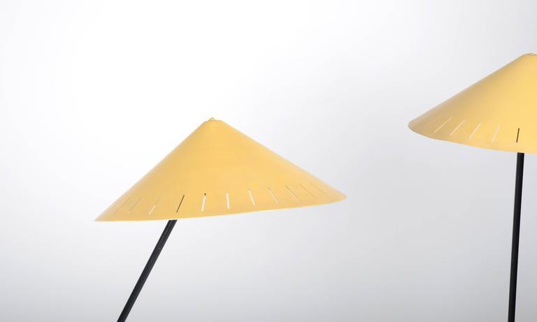 Swedish Pair of Floor Lamps, Sweden, 1950-1960s For Sale