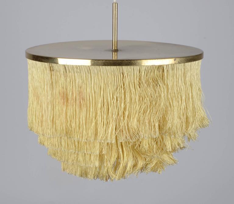 Scandinavian Modern Fringed Pendant Designed by Hans-Agne Jakobsson for Markaryd, Sweden, 1960s
