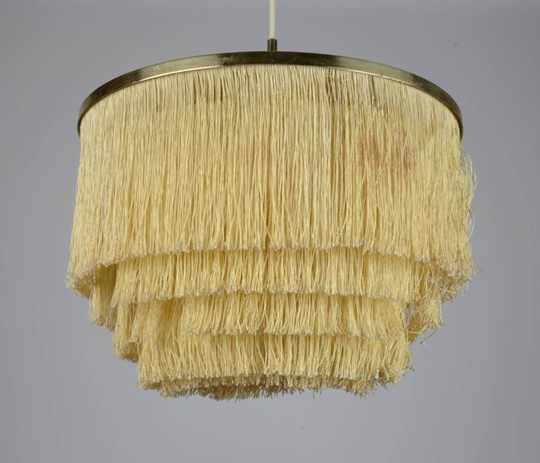 Fringed Pendant Designed by Hans-Agne Jakobsson for Markaryd, Sweden, 1960s In Good Condition For Sale In Stockholm, SE