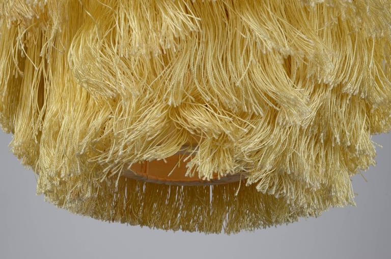 Mid-20th Century Fringed Pendant Designed by Hans-Agne Jakobsson for Markaryd, Sweden, 1960s