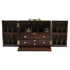 Early 19th Century English Mahogany Travel Apothecary Box, 1810-1820