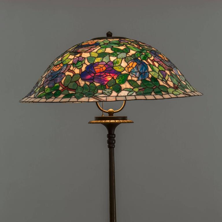 Art Nouveau Bronze Floor Lamp France 1880 1900 For Sale