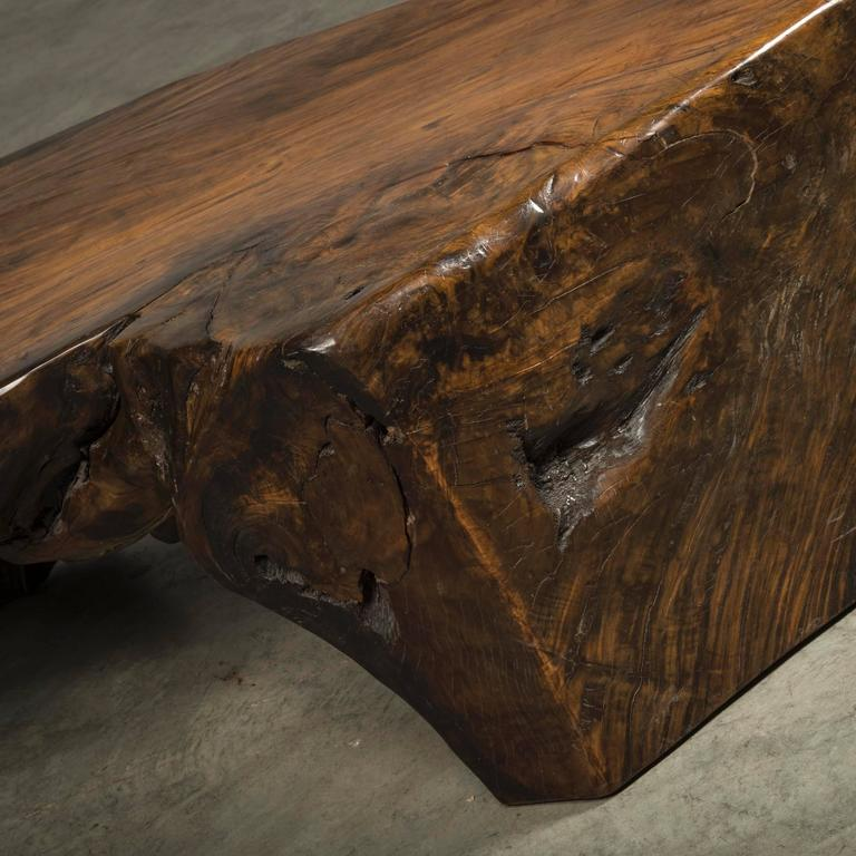 Coffee Table, Free-Form, Made Of Narra Root Wood For Sale