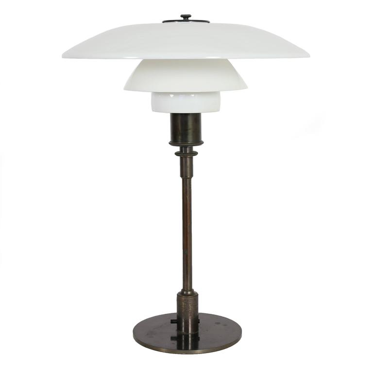 Poul Henningsen PH 4/3 Table Lamp, Pat Appl. 1927 1