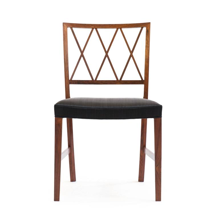 Set of four Ole Wanscher Rosewood chairs for A. J. Iversen 2