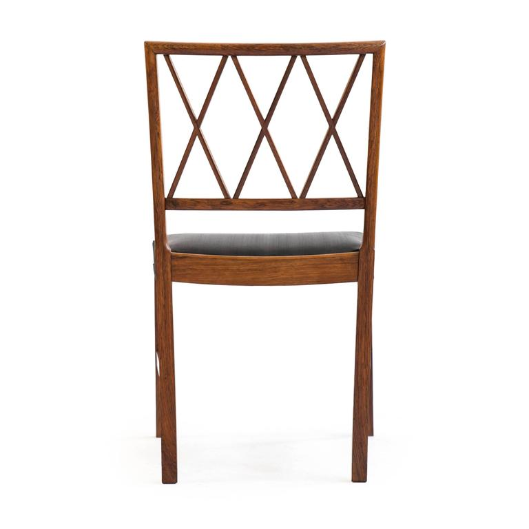 Set of four Ole Wanscher Rosewood chairs for A. J. Iversen 3