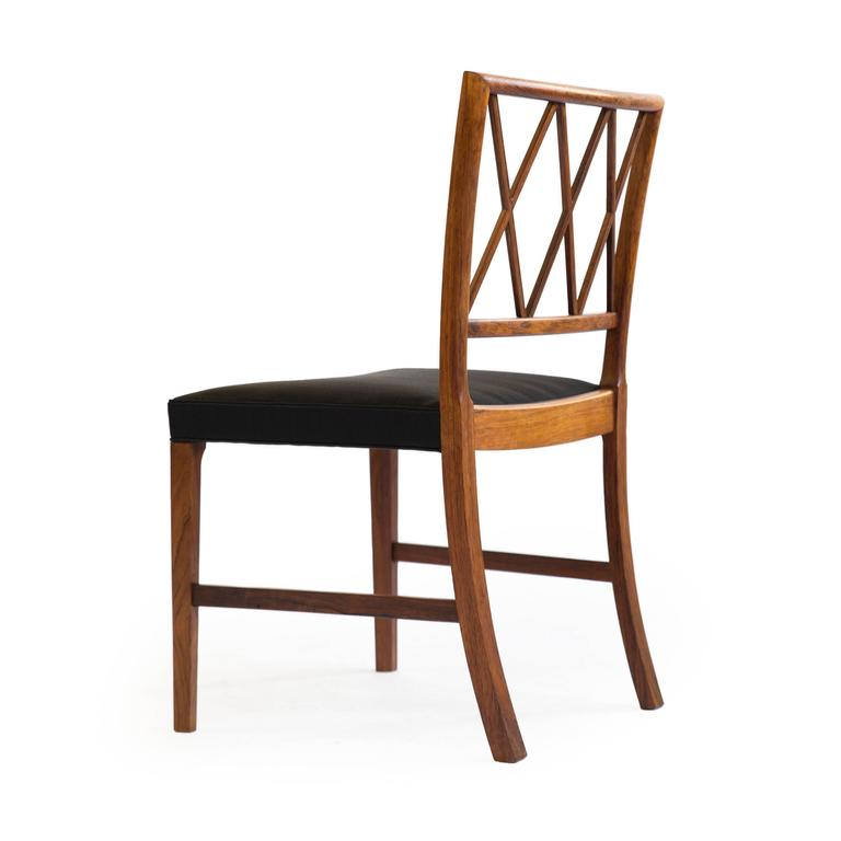 Set of four Ole Wanscher Rosewood chairs for A. J. Iversen 4