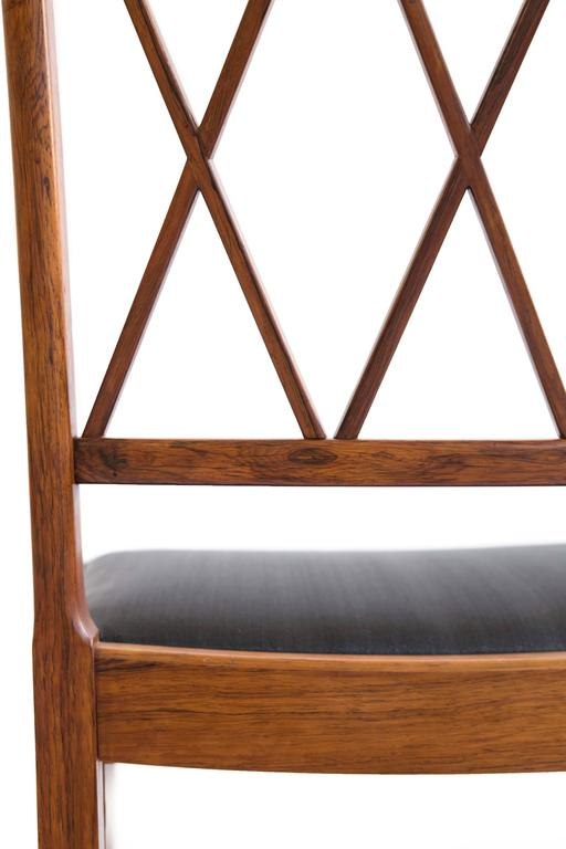 Set of four Ole Wanscher Rosewood chairs for A. J. Iversen 6