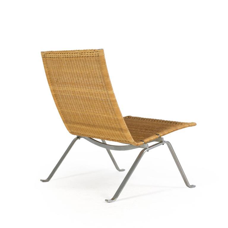 Poul Kjærholm Pk22 Wicker Chair, E. Kold Christensen 3