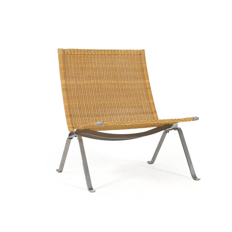 Poul Kjærholm Pk22 Wicker Chair, E. Kold Christensen 7