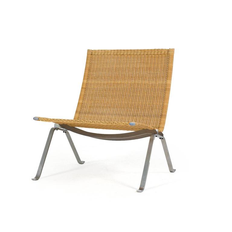 Poul Kjærholm Pk22 Wicker Chair, E. Kold Christensen 2