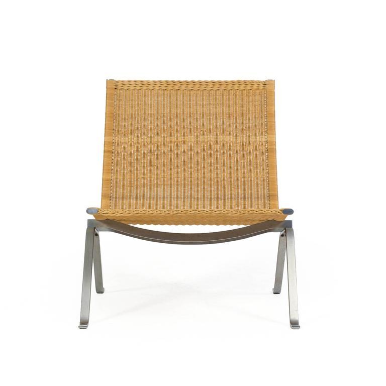 Poul Kjærholm Pk22 Wicker Chair, E. Kold Christensen 8