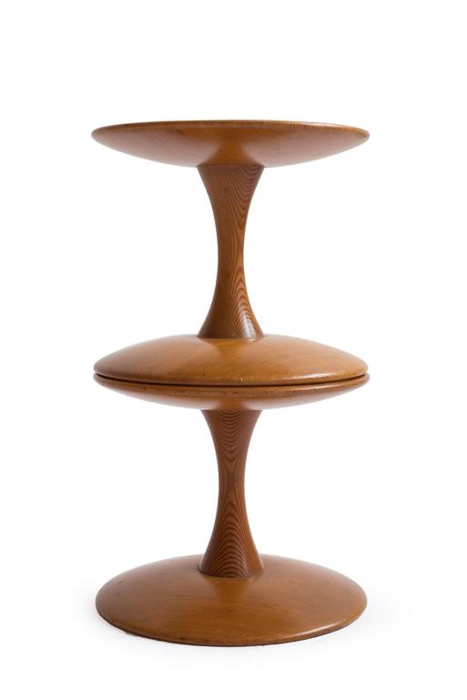 Scandinavian Modern Pair of Nanna Ditzel 'Toadstools' in Oregon Pine For Sale