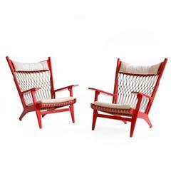 Hans J. Wegner JH-719 Lounge Chairs for Johannes Hansen, 1968