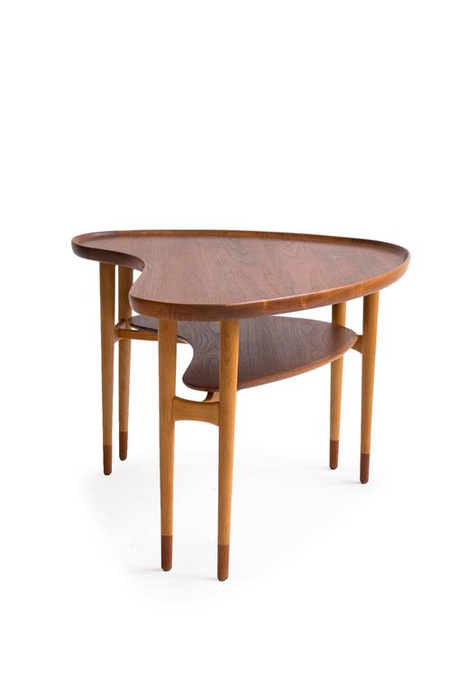 Arne Vodder Kidney Shaped Coffee Table 1950s For Sale At 1stdibs