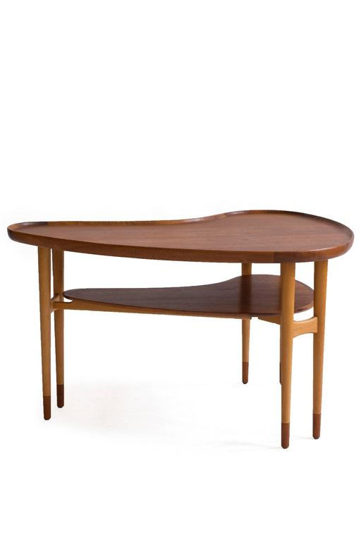 Danish Arne Vodder Kidney Shaped Coffee Table, 1950s For Sale
