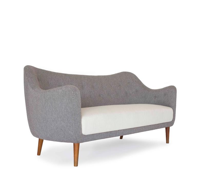 finn juhl 2,5 person bo64 sofa for bovirke at 1stdibs