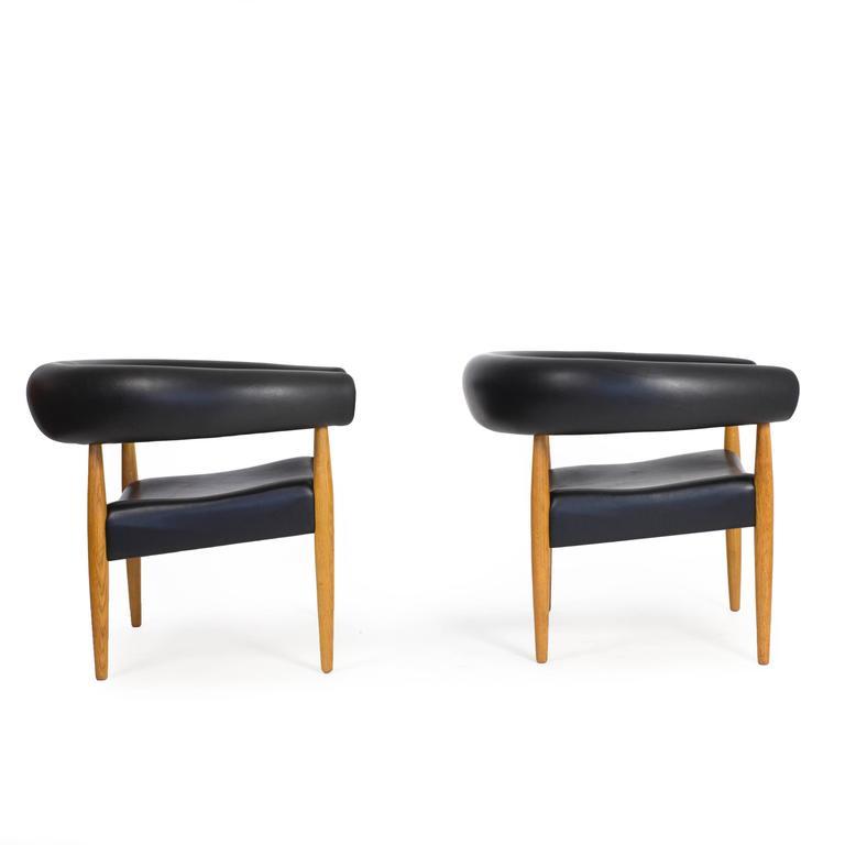 nanna ditzel a pair of 39 sausage chairs for kold savvaerk