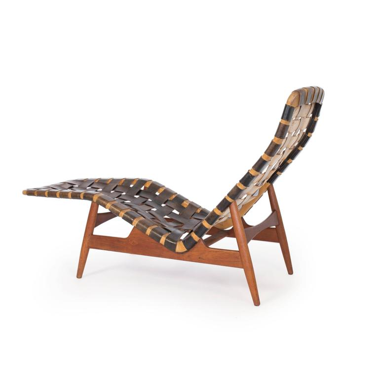 Scandinavian Modern Arne Vodder Chaise Longue for Bovirke, circa 1950 For Sale