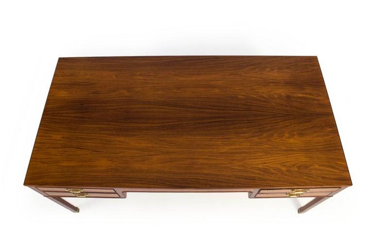 Ole Wanscher Freestanding Rosewood and Brass Desk, A. J. Iversen 4