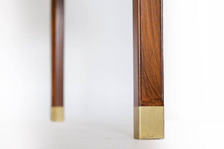 Ole Wanscher Freestanding Rosewood and Brass Desk, A. J. Iversen 6