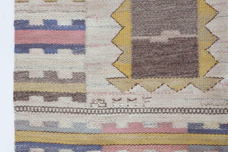 Scandinavian Modern Large Marta-Maas Fjetterström 'Ljusa Plador' Carpet, 1933 For Sale