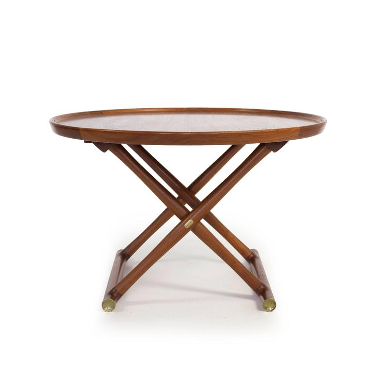 Scandinavian Modern Mogens Lassen, Egyptian Table in Teak, A.J. Iversen For Sale