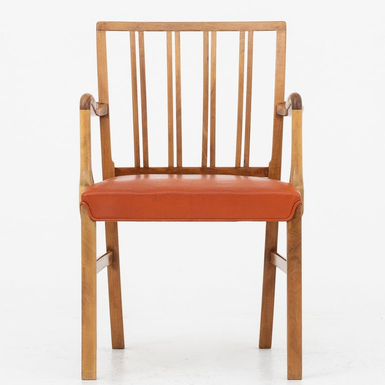 Set of 10 Armchairs by Ole Wanscher For Sale 3