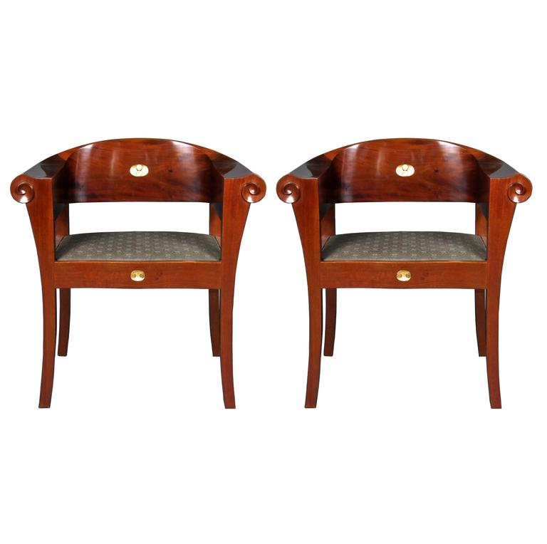 Johan Rohde, an Unique Pair of Armchairs