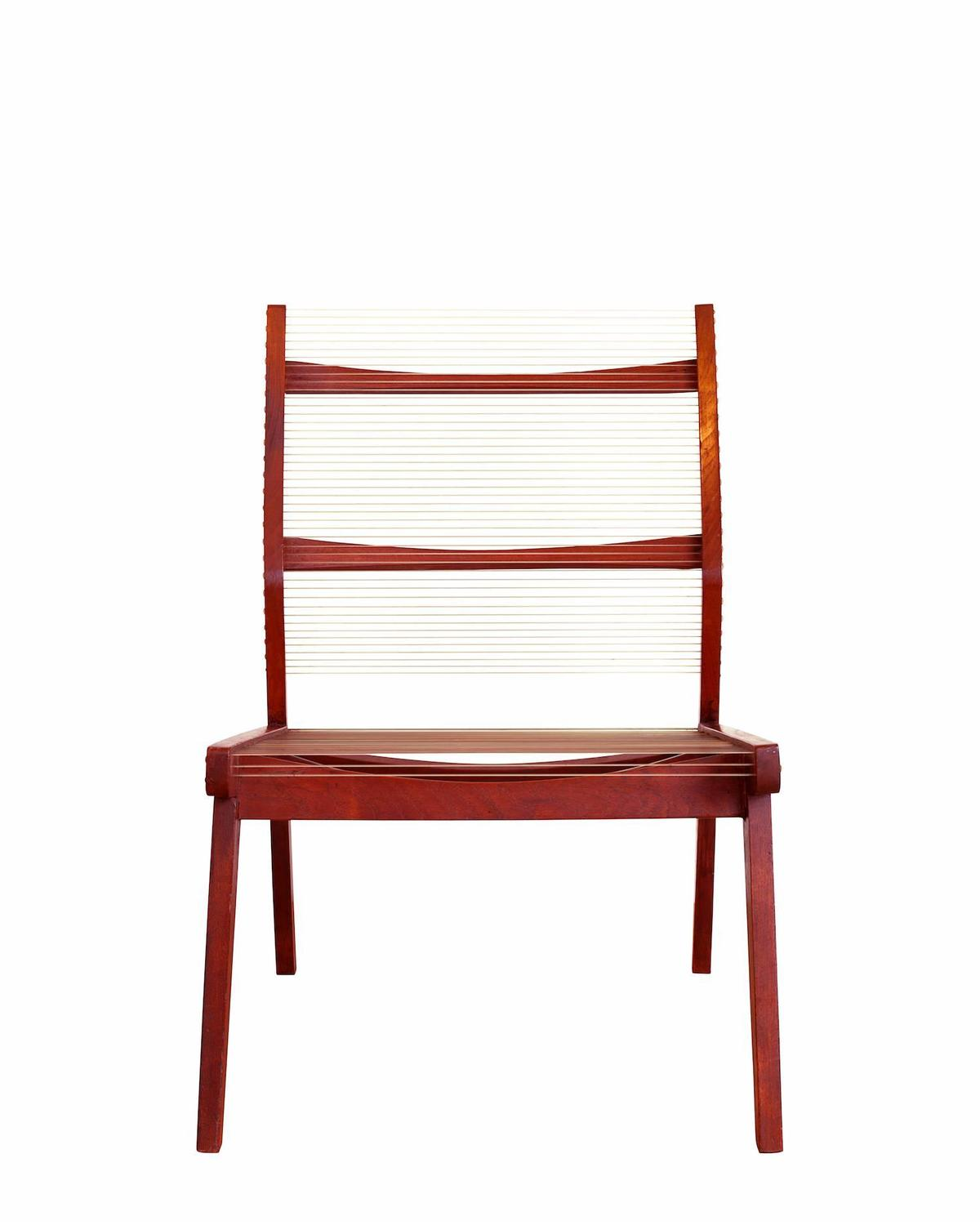The Concealed Bedroom Easy Chair With Teak Frame And Angled Back For Sale At 1stdibs