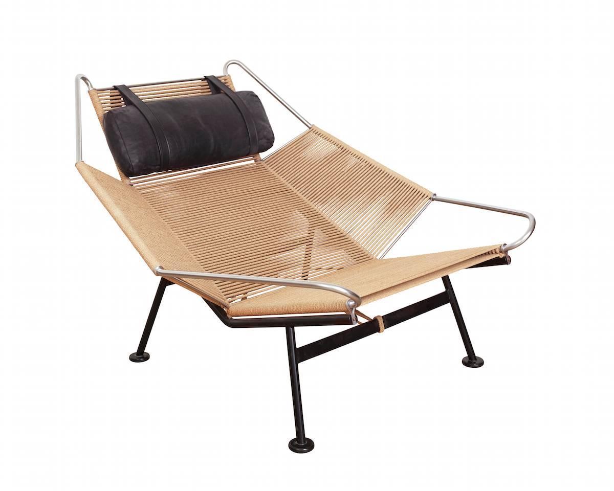 """Flag Halyard"" Lounge Chair by Hans J Wegner at 1stdibs"