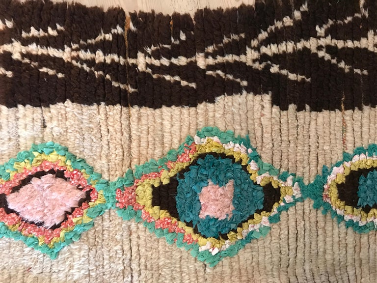 Vintage Multicolored Moroccan Ourika Rug In Good Condition For Sale In Copenhagen K, DK