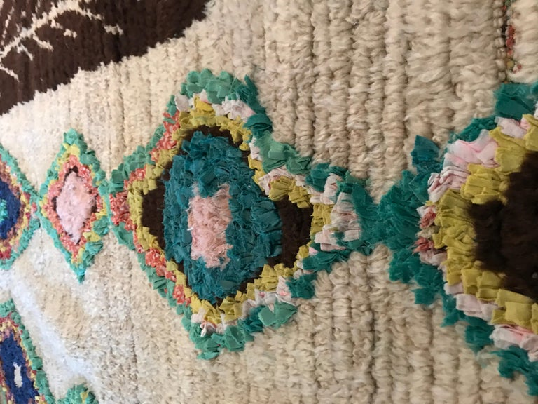 Late 20th Century Vintage Multicolored Moroccan Ourika Rug For Sale