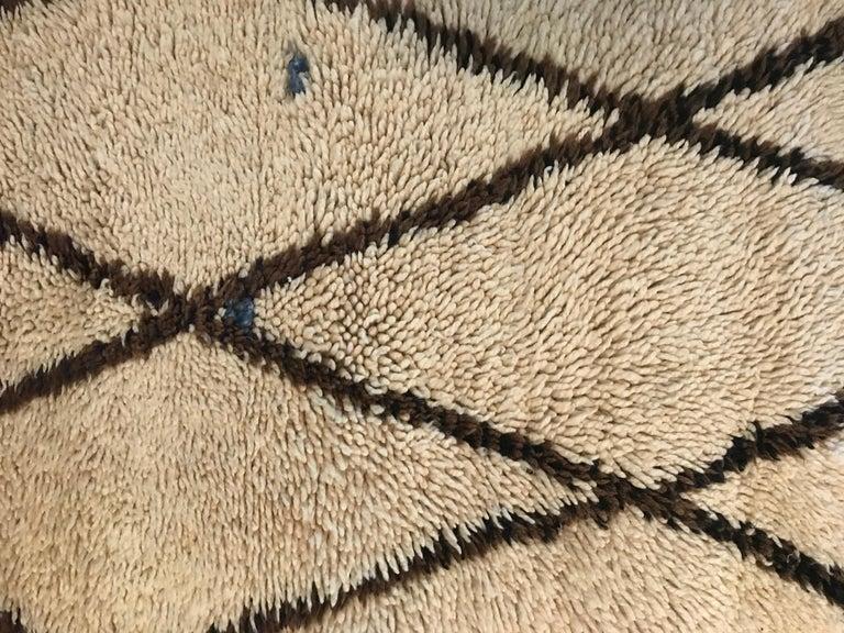 Wool Vintage Moroccan Middle Atlas Rug For Sale