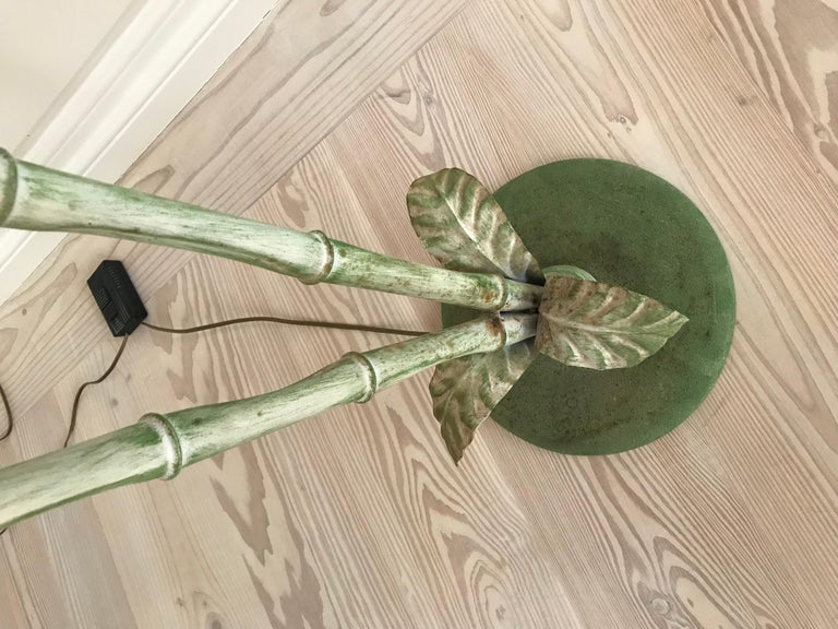 Mid-20th Century French Vintage Palm Tree Floor Lamp For Sale