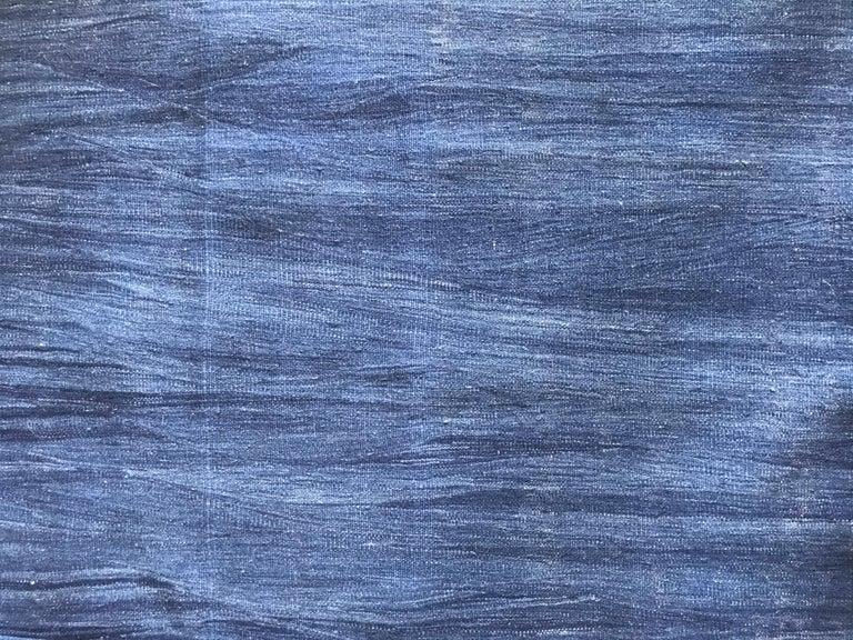 Beautiful indigo blue Anatolian kilim.