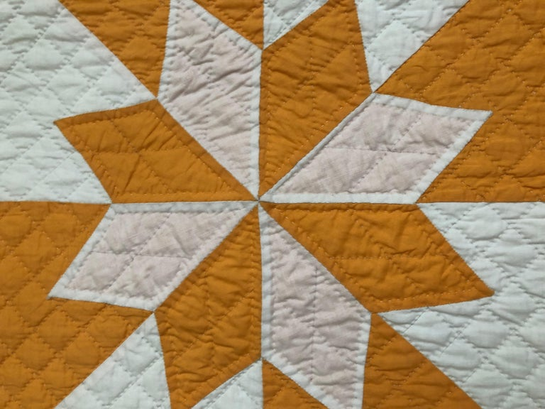 Vintage Yellow Quilt In Good Condition For Sale In Copenhagen K, DK