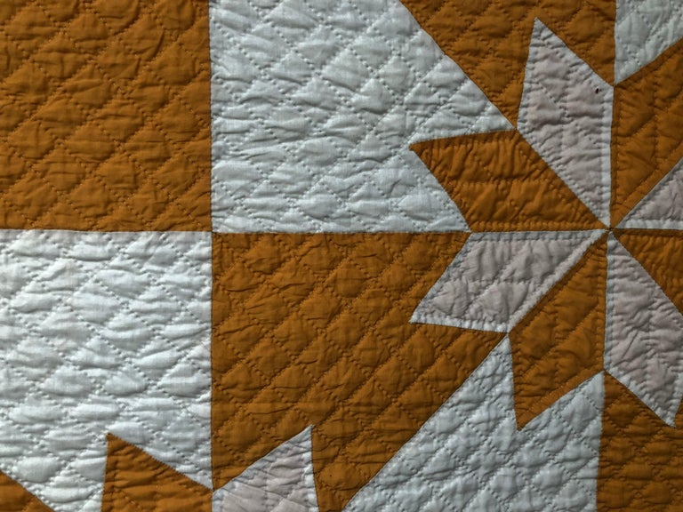 Mid-20th Century Vintage Yellow Quilt For Sale