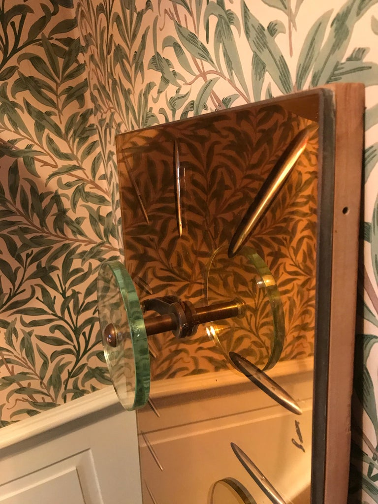 Mid-20th Century Italian 1960s Coat Hanger in Mirrored Glass For Sale