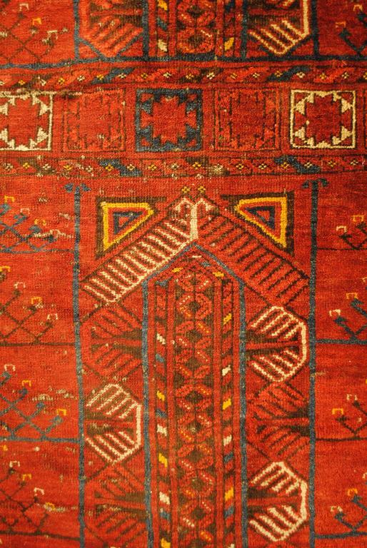 Authentic Turkmenian Yomut Tekke Hatchlu Door Rug For Sale