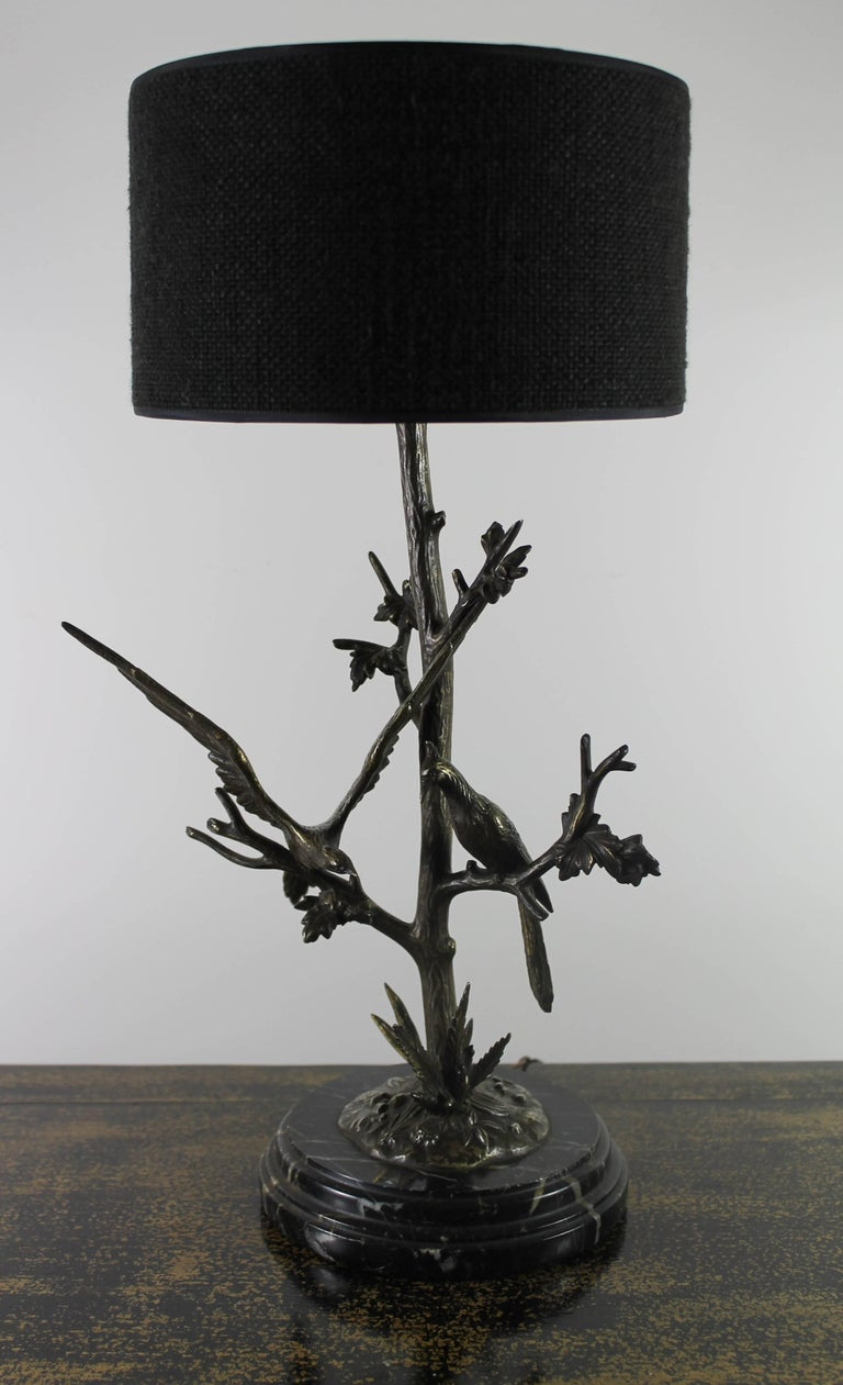 Hand-Crafted Table Lamp in Bronze, circa 1900 For Sale