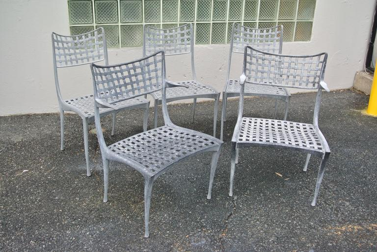 Set Of Five Sol Y Luna Aluminum Patio Chairs By Brown Jordan The Includes