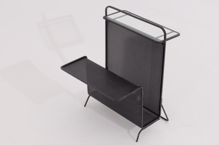 Futurist Mathieu Matégot Table Magazine Holder Ateliers Mategot, Referenced, End Table  For Sale