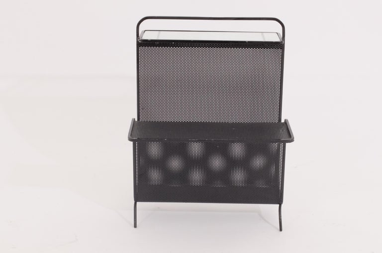 Mathieu Matégot Table Magazine Holder Ateliers Mategot, Referenced, End Table  In Good Condition For Sale In London, GB