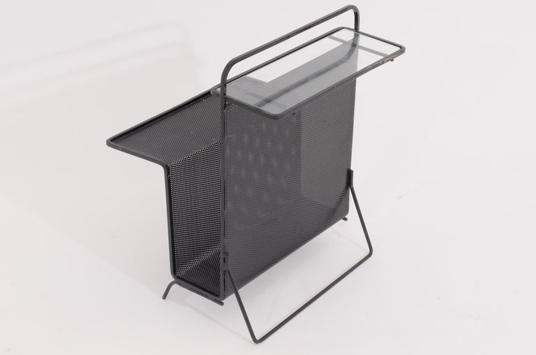 Mid-20th Century Mathieu Matégot Table Magazine Holder Ateliers Mategot, Referenced, End Table  For Sale
