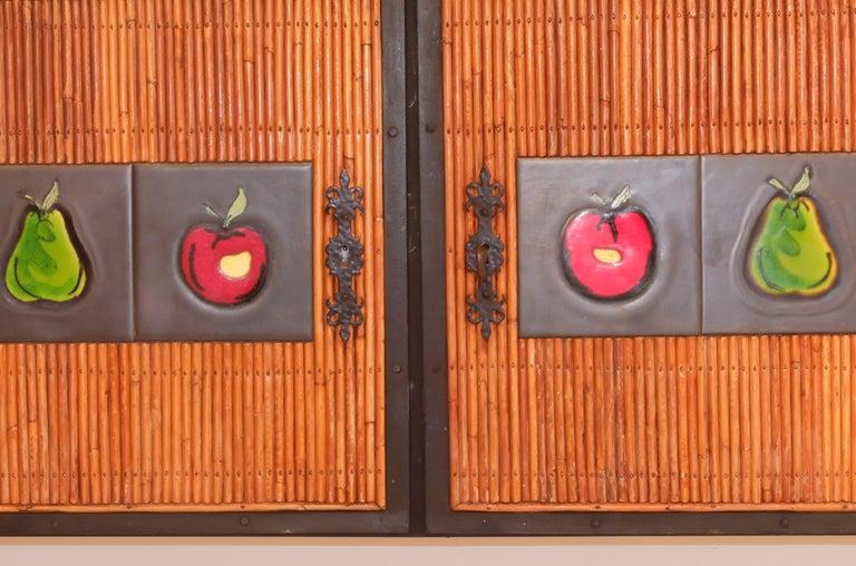 Colette Gueden French Buffet Cabinet Credenza Bamboo Le Printemps Primavera For Sale 1