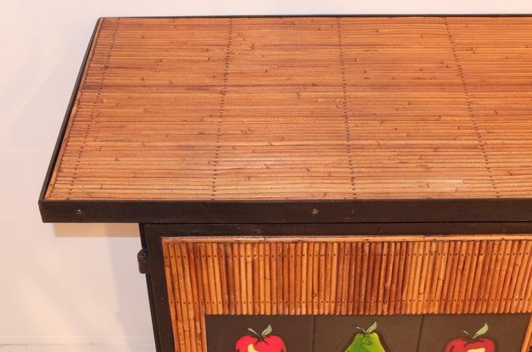 Colette Gueden French Buffet Cabinet Credenza Bamboo Le Printemps Primavera For Sale 2