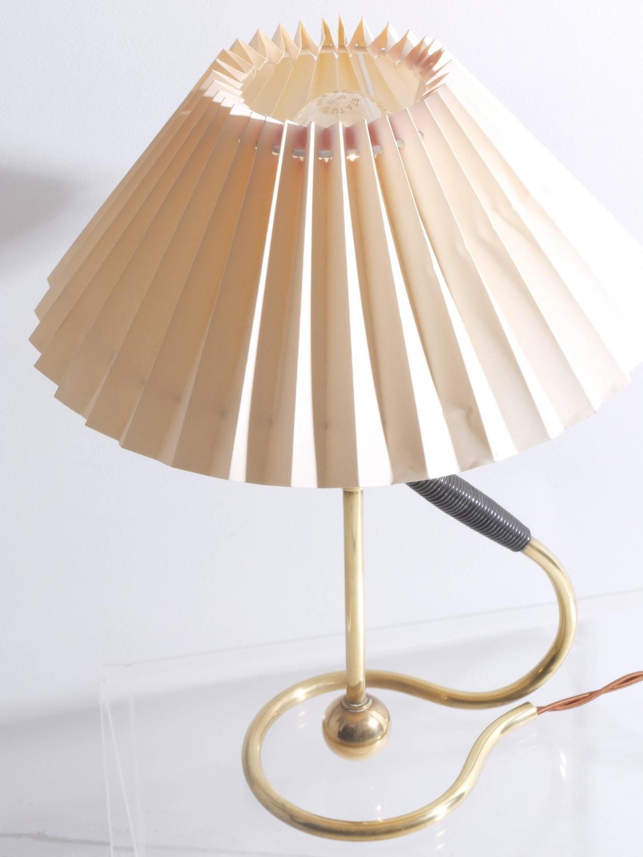 Vintage Le Klint 306 Table Lamp by Kaare Klint in Brass, Danish Modern For Sale at 1stdibs
